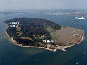 Veduta aerea dell'Isola di Brownsea